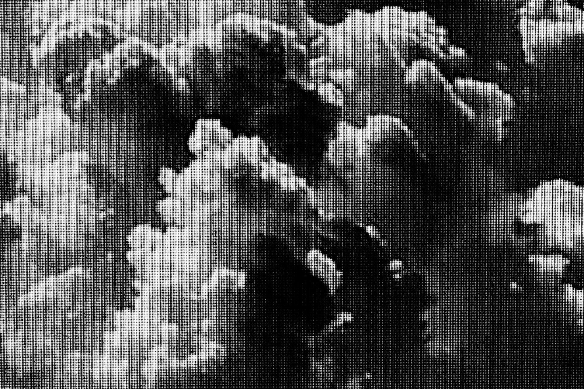 Adrien Tomaz, 2015 - Tirages Piezo charbon, papier Fine Art. Dimensions variables. Photographies numériques prises sur un écran de télévision LCD.
