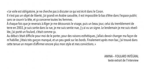 Révéler l'étoffe - Amina